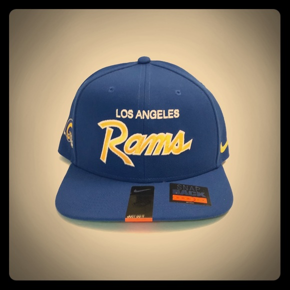 c08c6ca2 Nike Los Angeles Rams NFL SnapBack Hat NWT